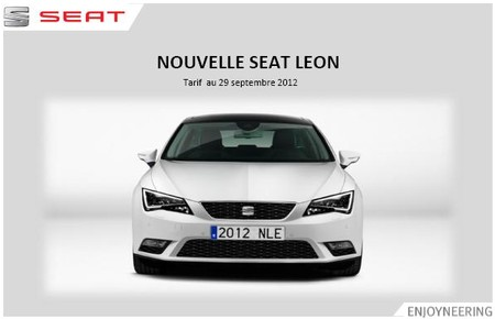 tarifs seat leon 3. Black Bedroom Furniture Sets. Home Design Ideas